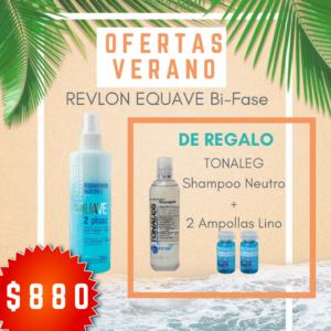 REVLON EQUAVE BI-FASE = 1 TONALEG SHAMPOO NEUTRO + 2 AMPOLLAS DE LINO DE REGALO (copia)
