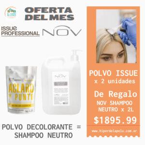 ISSUE POLVO CLASICO 2 unidades = NOV SHAMPOO NEUTRO 2 litros DE REGALO