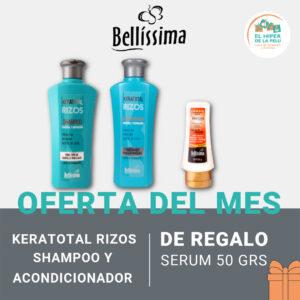 KERATOTAL RIZOS SHAMPOO Y ACONDICIONADOR 270 ml = SERUM 50 ml DE REGALO!!!